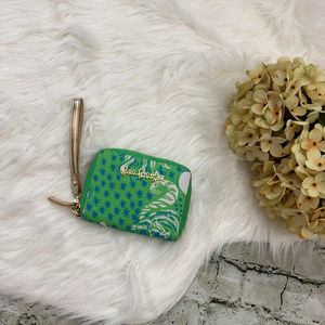 Lilly Pulitzer Roar of the Jungle Limeade Wristlet